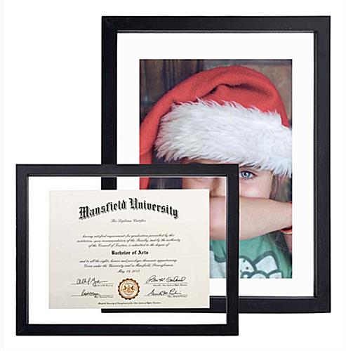 "Glass Float Picture Frames | 8.5"" x 11"" Floating Graphics"