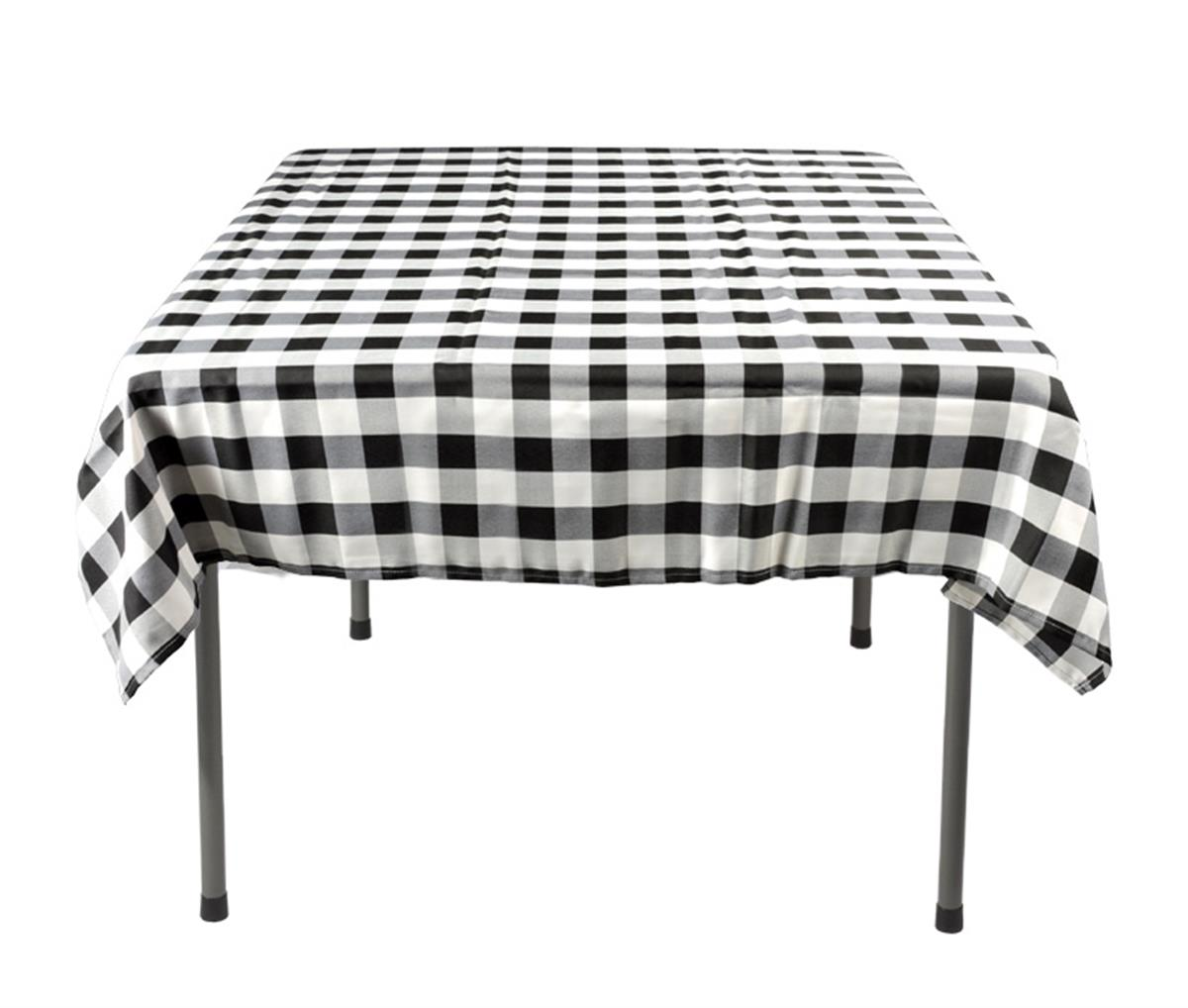square table cloths black white checkered pattern. Black Bedroom Furniture Sets. Home Design Ideas