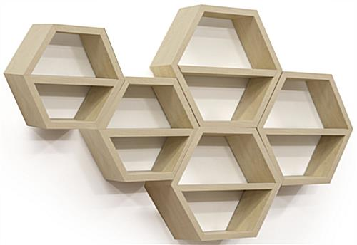 hexagonal wall shelf set contemporary store display fixtures. Black Bedroom Furniture Sets. Home Design Ideas