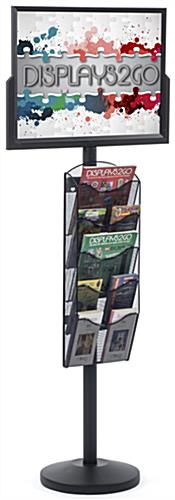 "24"" x 18"" Sign Post with 5 Mesh Literature Pockets, Floorstanding"