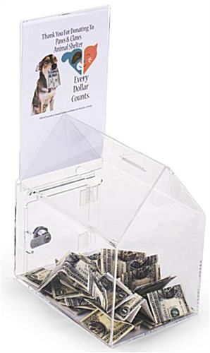 House Shaped Donation Box with Header
