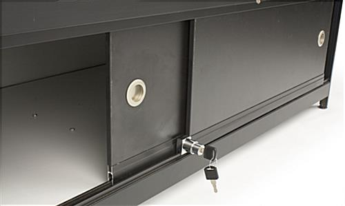 Commercial Retail Counters Glass With Locking Black Case