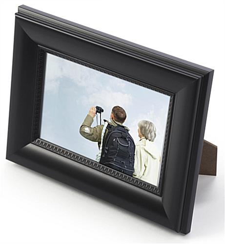 cheap black picture frame plastic 4x6 wall or counter display. Black Bedroom Furniture Sets. Home Design Ideas