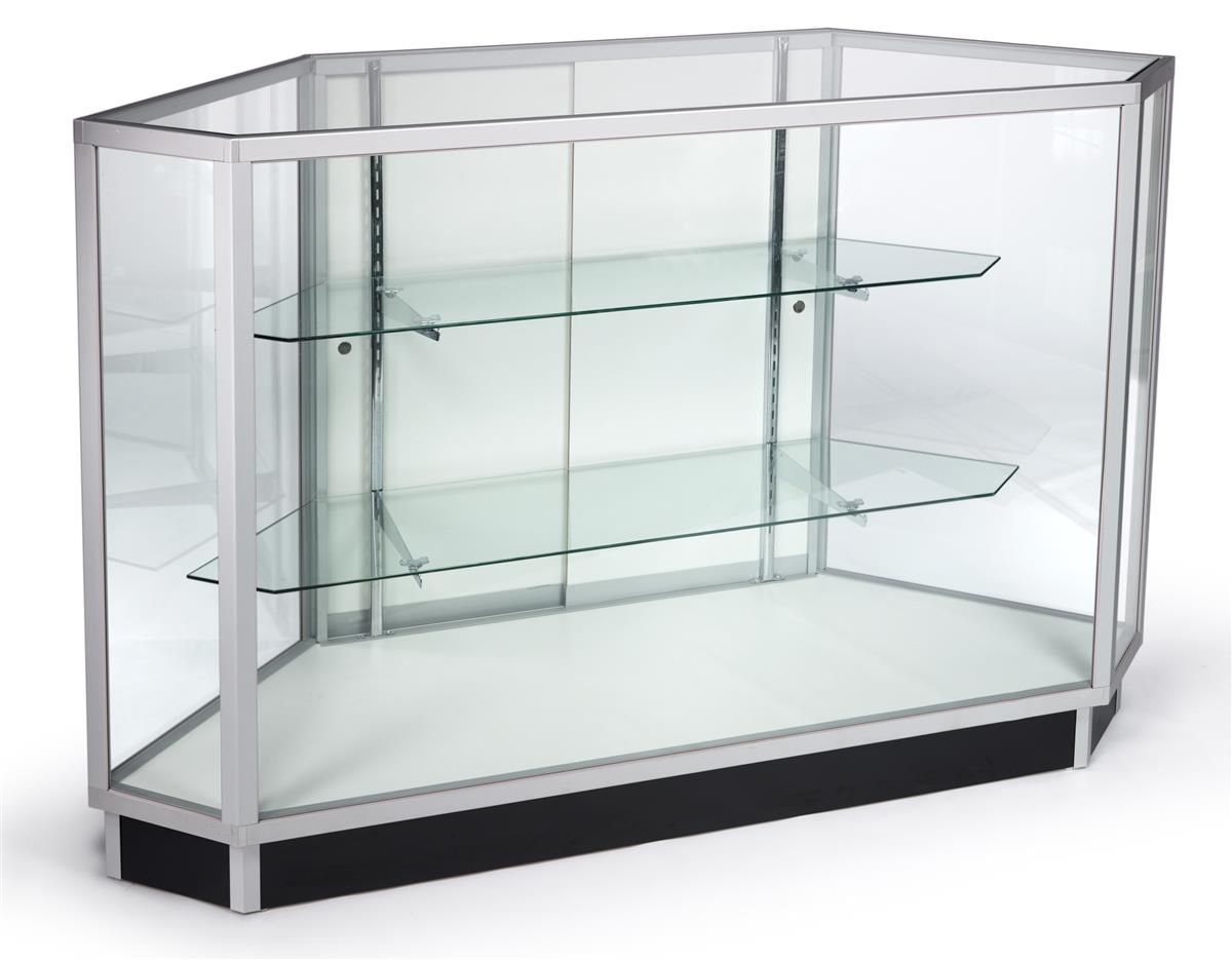 Glass Corner Display Cabinets Sliding Doors