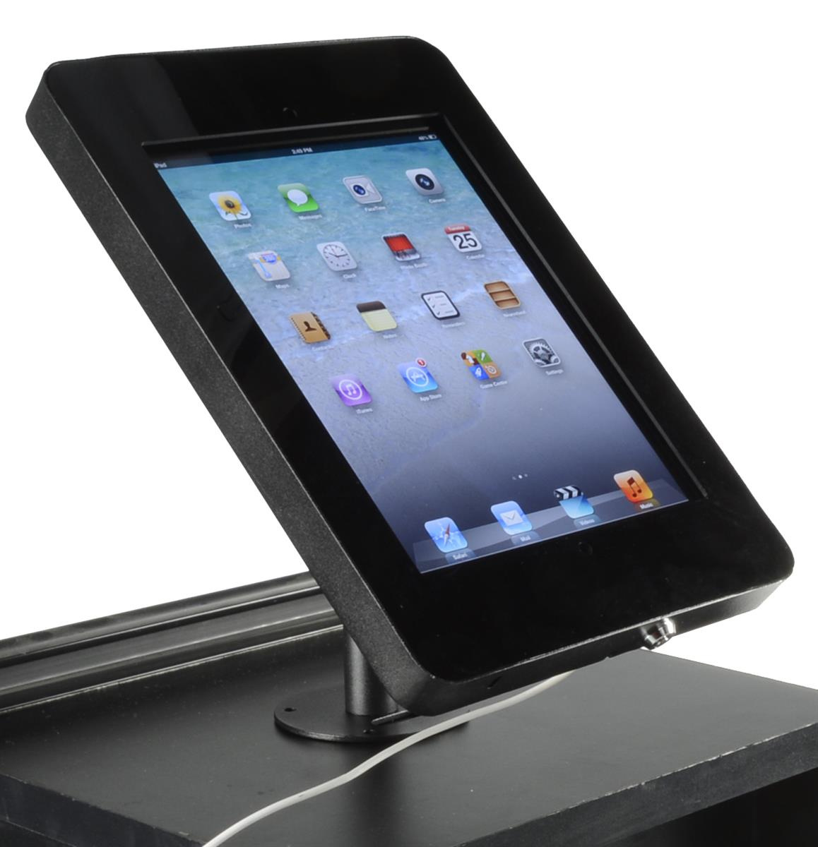 Ipad Holder With Locking Function Black Steel