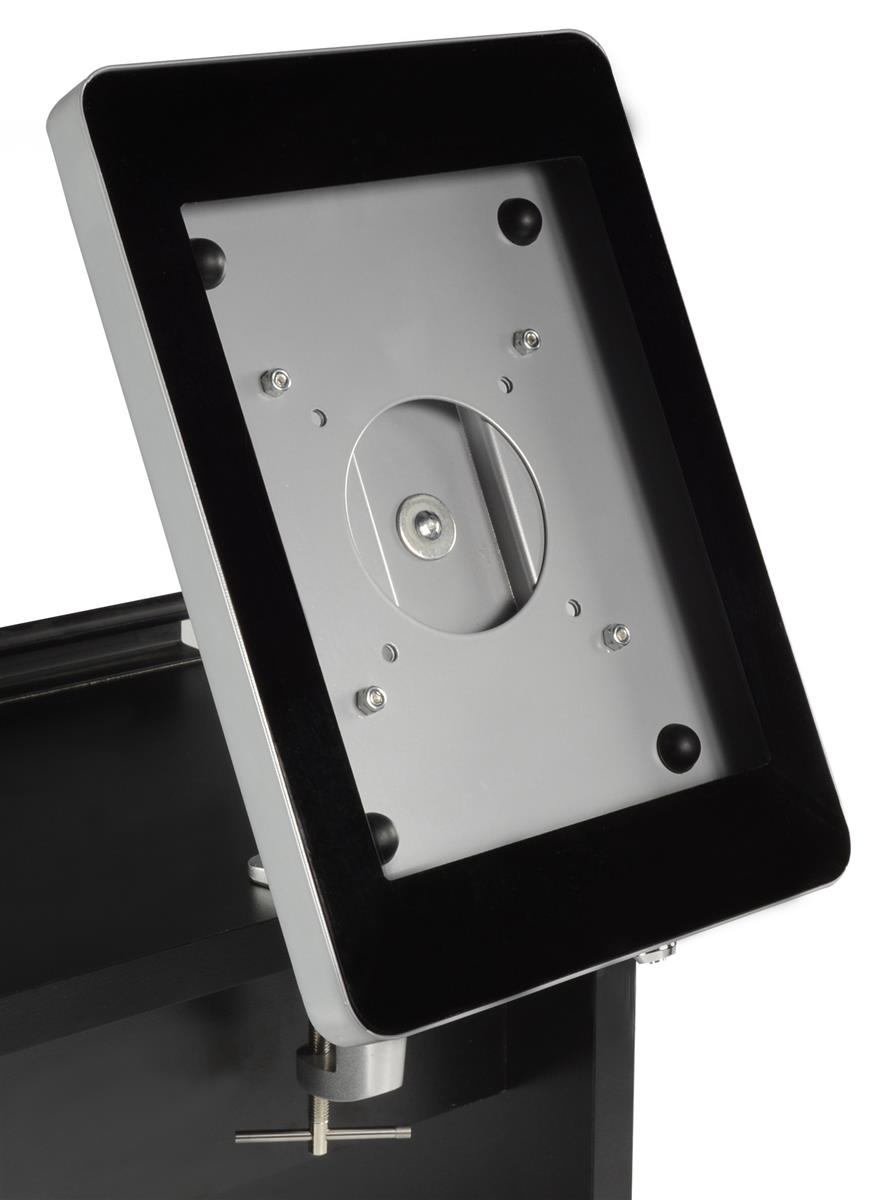 Ipad Desk Mount Holders Silver Enclosure