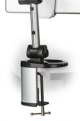 Rotating Tablet Arm Holders Silver With Black And White