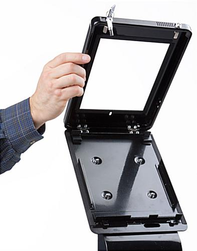 iPad Kiosk Stand with Lift Open Enclosure