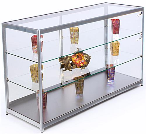 Glass Door Kitchen Cabinet Lighting: Tempered Glass Retail Cabinet