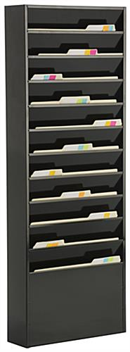 Metal Medical Chart Rack Holds Patient Files Mail Amp More