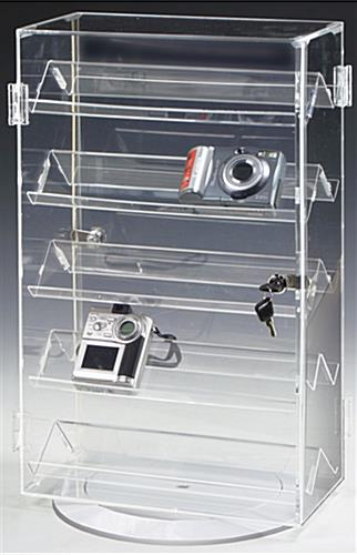 these jewelry display cases use double sided shelves for more rh storefixture com