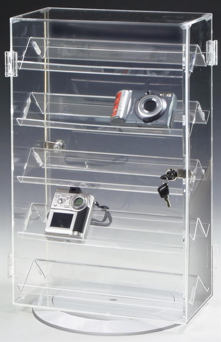 These Jewelry Display Cases Use Double Sided Shelves For