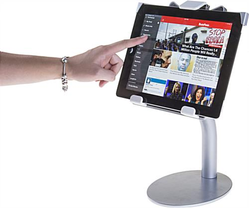 Residential or Commerical Silver iPad Countertop Mount