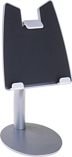 Silver iPad Countertop Mount with Optional Locking Kit