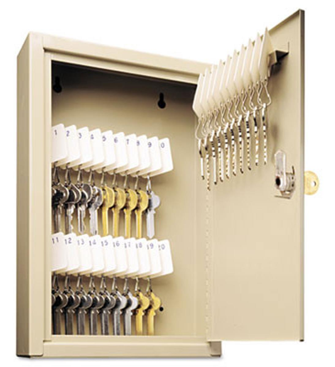 Valet Key Lockbox Beige Steel 30 Slot Organizer