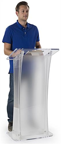 Frosted Portable Lectern, Easy Assembly