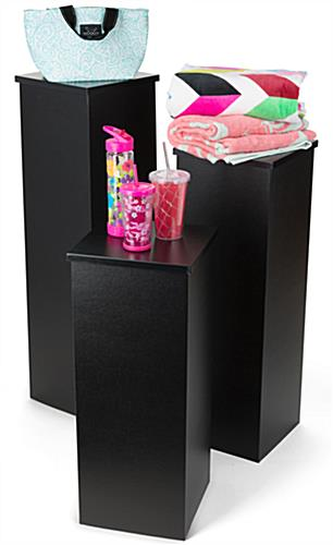"30"" Black Portable Pedestal with Small & Larger Sizes"
