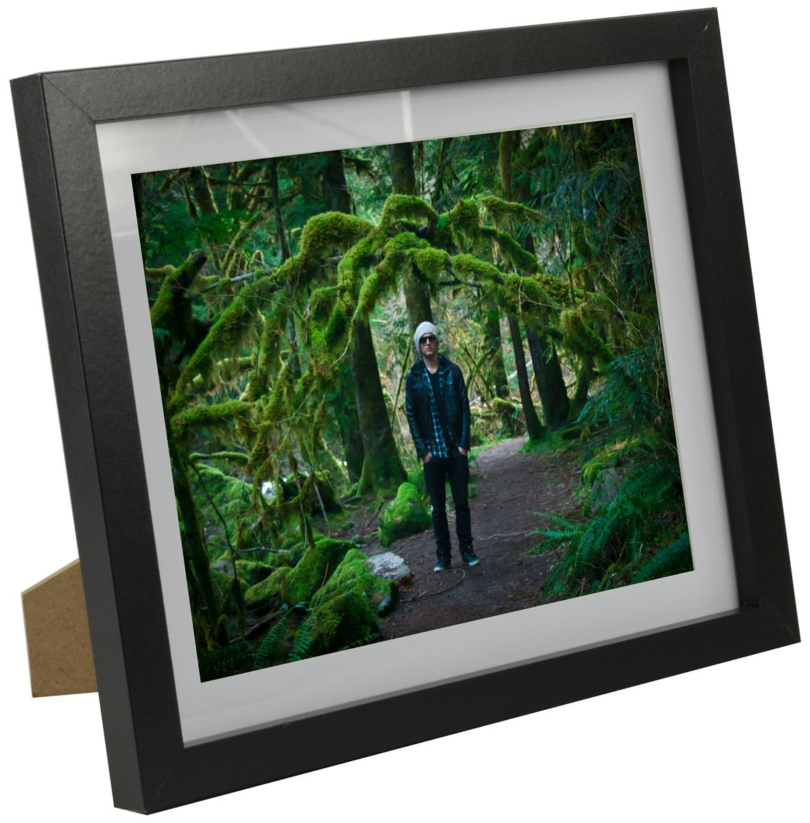 Black Photo Display Frame 8x10 With Pre Cut Matboard