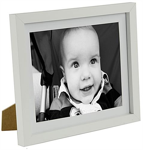 8 x 10 matted wood picture frames white