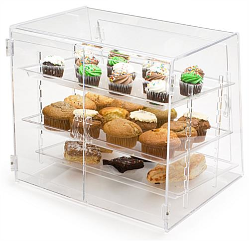 these food displays come with the three plastic trays these bakery rh storefixture com food display shelf food display shelf price