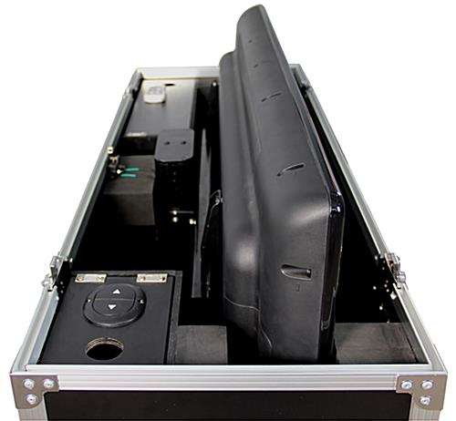 Motorized flat panel tour case heavy duty shipping display for Motorized flat screen tv lift
