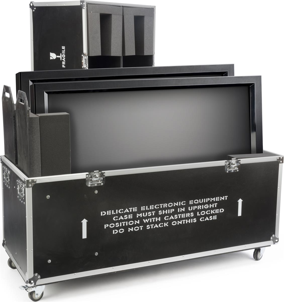 Flat Screen Transport Cases Rolling Trunk For Flat Panel