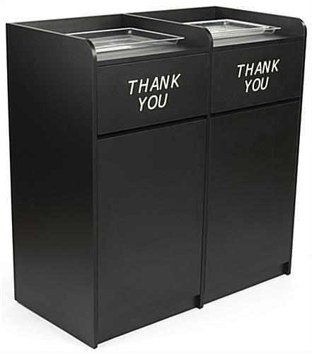 Double Black Waste Receptacles Made Of Melamine