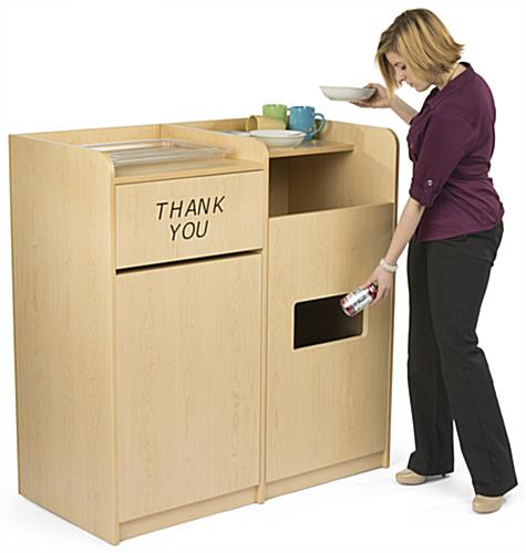 Cafeteria And Restaurant Waste Receptacles Recycling Cabis Bussing Stations