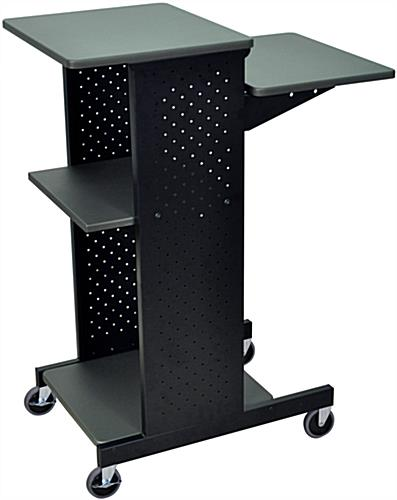 Wheeled Laptop Stand Mobile Computer Desk