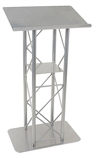 Silver Steel Podium Stand