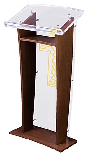 Wood Pulpit with Celtic Cross is Ideal for Most Users