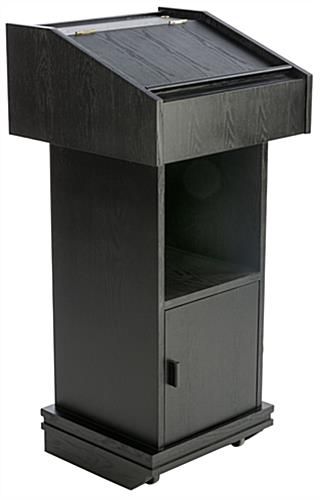 Wheeled Lectern With Enclosed Storage