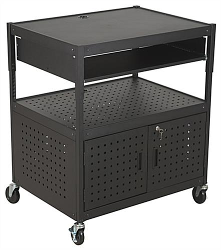 black multimedia cart