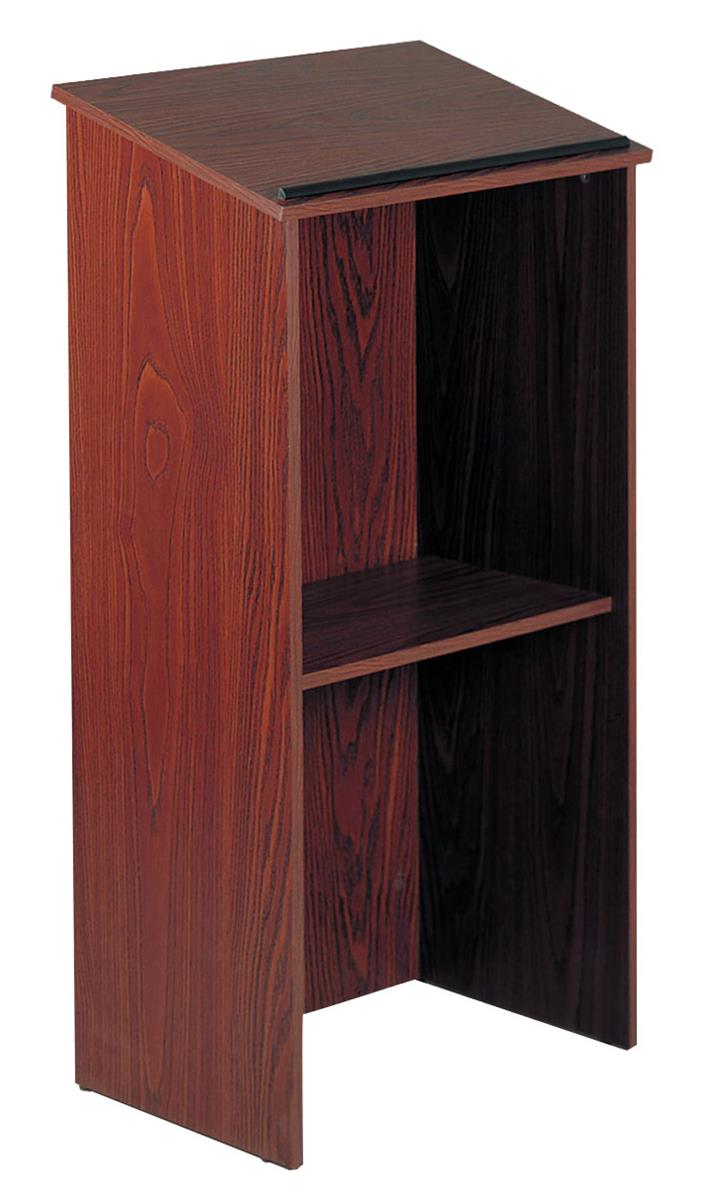 Mahogany Open Back Podiums Floor Standing