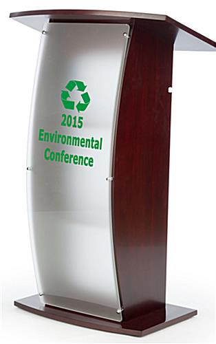 Custom Lectern Full Front View With Custom Logo