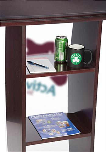 Clear Acrylic Lecture Stand with 2-Color Imprint, Curved