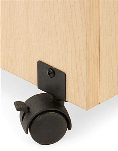 Rolling Lectern Comes With Two Locking Casters
