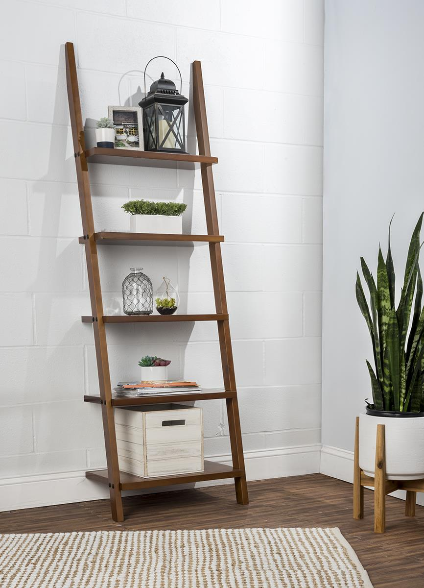 Shelf Ladder Bookcase Slanted Design