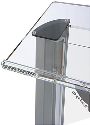 Frosted Plastic Lectern with Imprint & Large Reading Platform