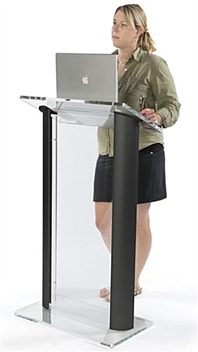 "48"" Tall Black Podium Lectern"