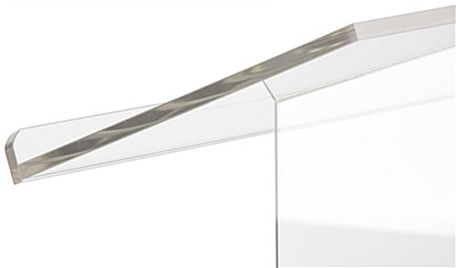 "Custom Graphic Plexiglass Lectern, 26.75"" Wide"