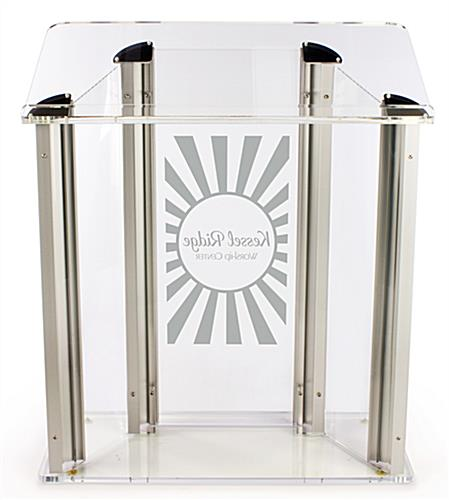 Extra-Large and Wide Acrylic Podium with Custom Logo