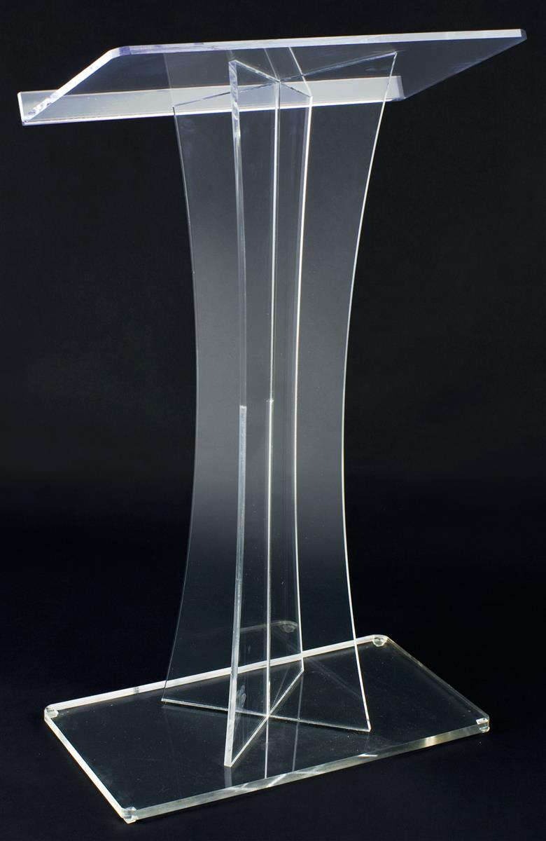 Floor Lectern Thick Acrylic Quot X Quot Style Design