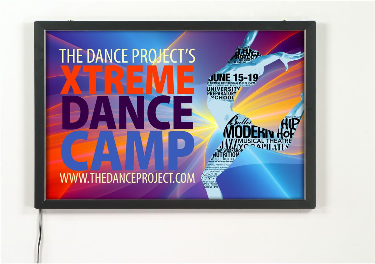 Lightbox Signs are Snap Open Poster Frames! Each Light Box ...