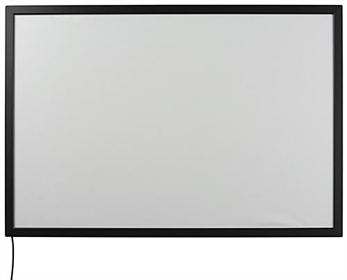 Snap Open Black LED Movie Poster Case