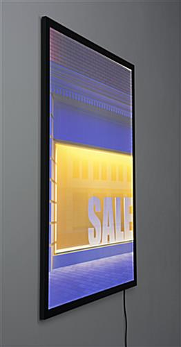 Snap Poster Frame in 30 x 40 | Edge Lit Signage