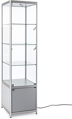 LED Display Tower with Storage Cabinet