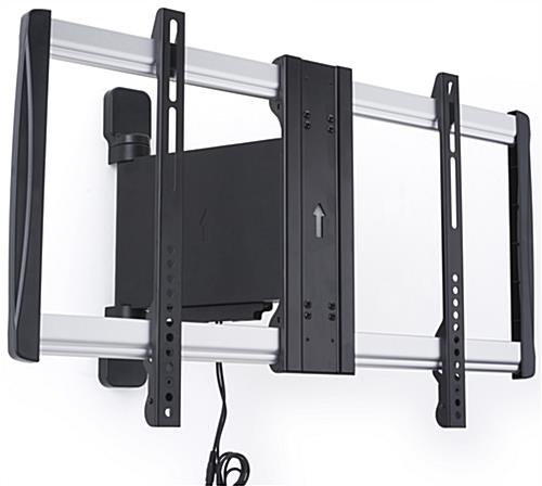 Electric pan screen mount holds 32 60 widescreens for Motorized full motion tv wall mount