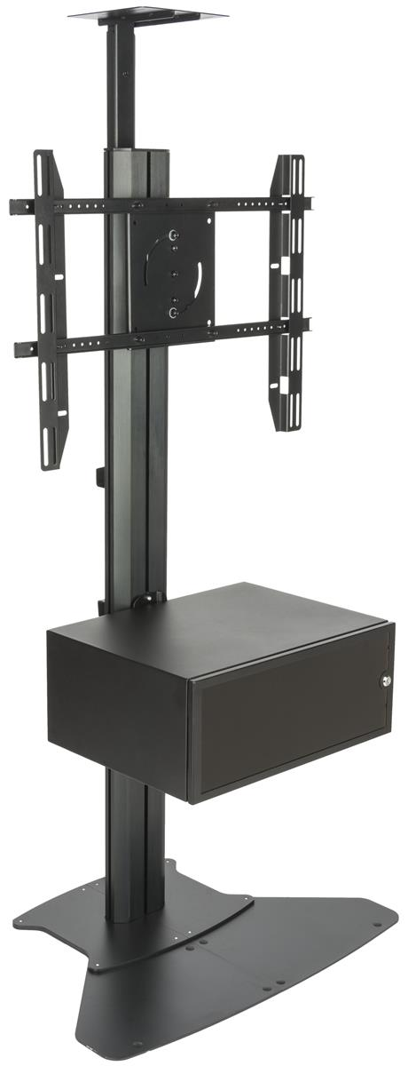 Locking Commercial Floor Mount Tv Stand Bolt To Floor
