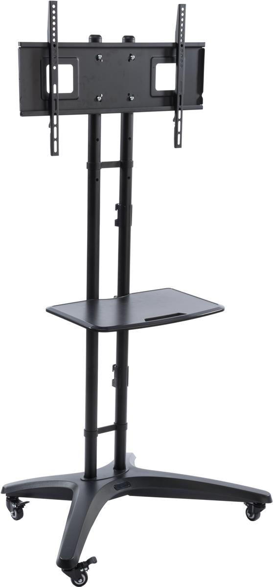 32 inch tv stand universal portable flat panel stands adjustable black steel 29086
